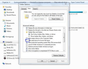 Customize folder options and Use Windows OS Comfortably