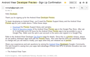 Android wear sdk setup,demo with android wear developer preview app