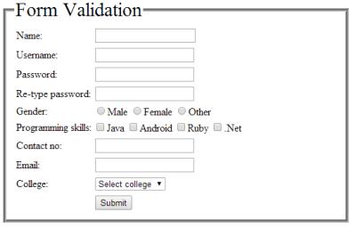 jquery-html-form-validation