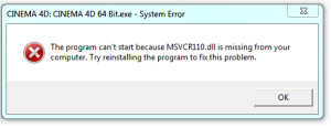 [Solved] msvcr110.dll, msvcr100.dll, msvcp100.dll is missing from computer