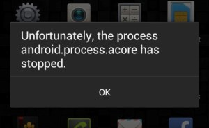 "How to fix ""android.process.acore has stopped"" error"