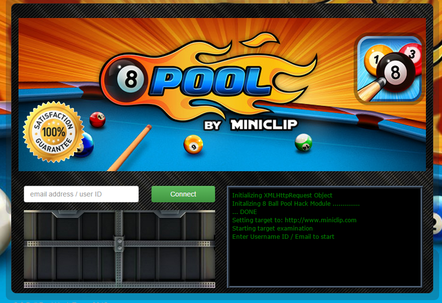 8 ball pool hack game