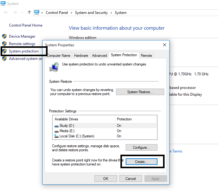 create-system-restore-point