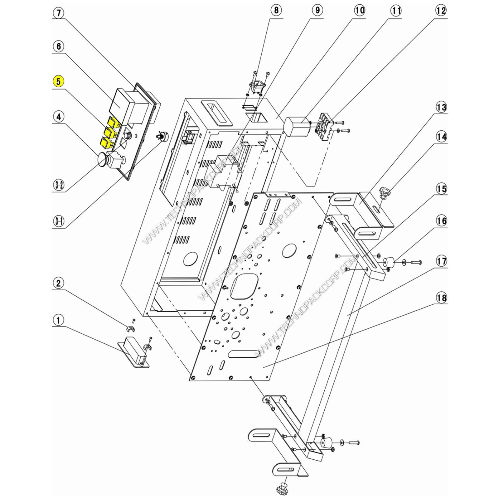 Rocker Switch for band Sealer and Induction Sealers (P-C31-HU)
