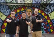 Giulio Gallegos, Arturo Valencia y Roberto Iberico