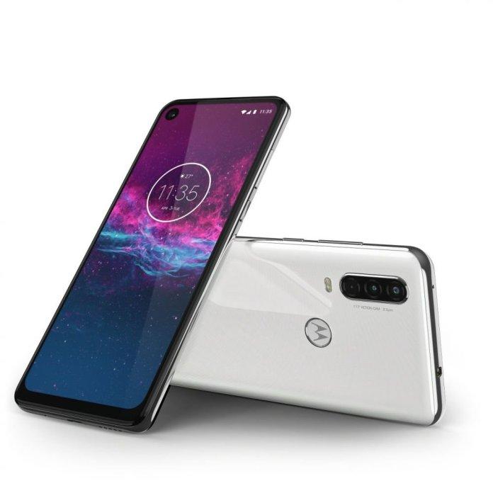 Motorola One Action-ROW-White-LAYDOWN COMBO