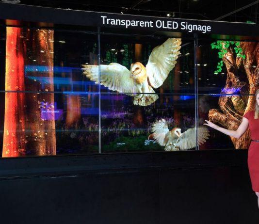 Transparent OLED signage