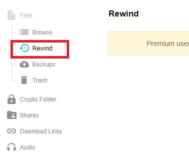 click on rewind