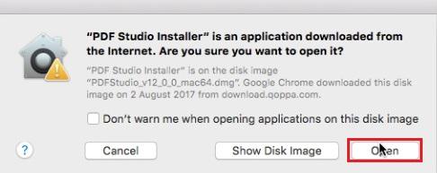 open the dmg file