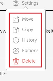 delete options