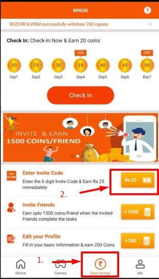 Roz Dhan Enter invite Code