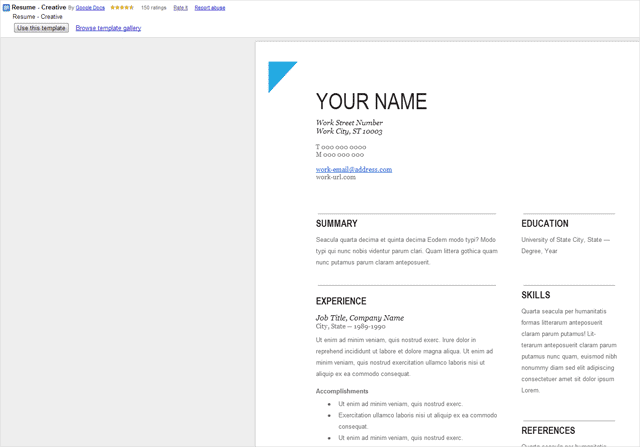 How To Get Resume Templates On Google Docs