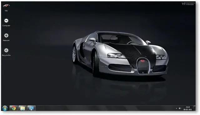 1920x1080 3d fishes windows 10 wallpaper. Bugatti Veyron Windows 7 Theme