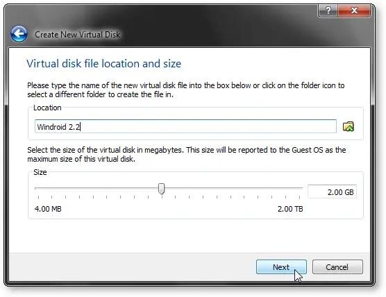 Adjust Disk Space