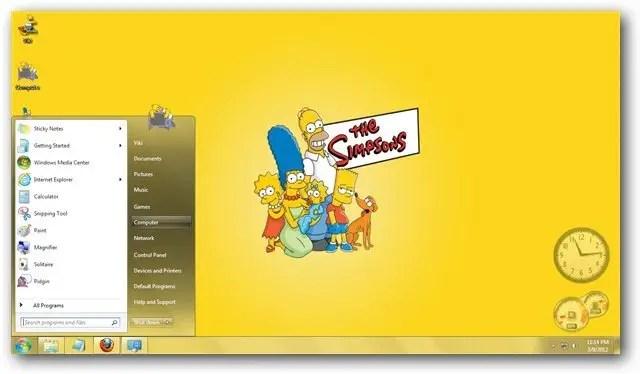 Animated Desktop Wallpaper Hd The Simpsons Windows 7 Theme