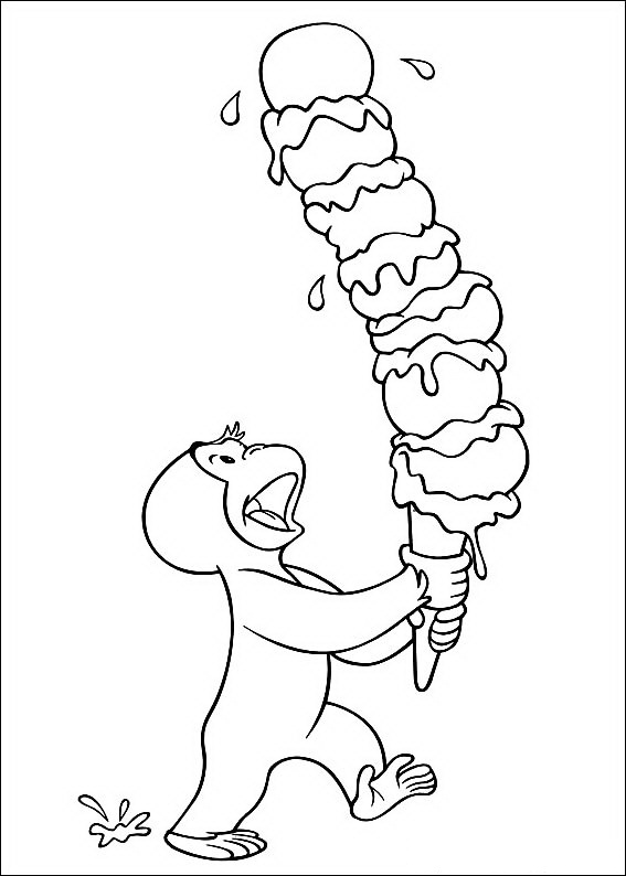 Free Curious George Coloring Pages For Kids
