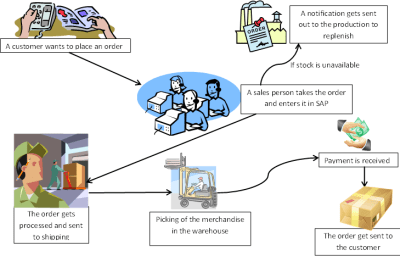 What is mean by SAP Process Flow?