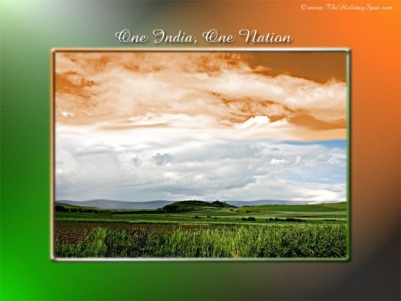 Download Independence Day Wallpaper Tri Colour Sky