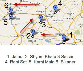 Rani Sati Karni Mata Rajasthan Map