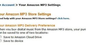 Amazon MP3 Store Settings