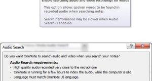 Audio Video Search in OneNote