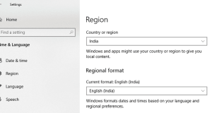 Change Region Settings in Windows 10