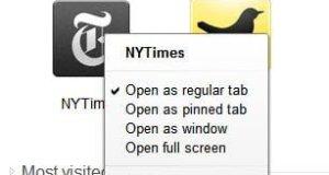 Chrome Apps Options