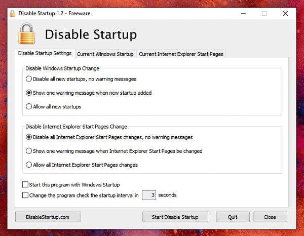 Stop Programs Windows Startup
