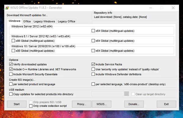 Download Windows Updates offline