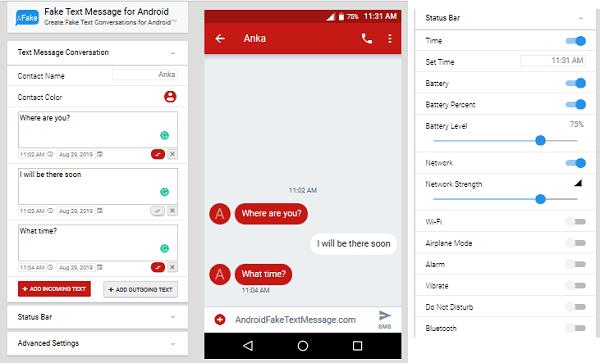 Fake Text Message Screenshot
