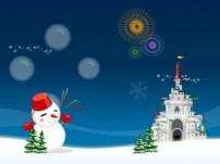 Free Christmas theme for windows 7 Blue Christmas Theme