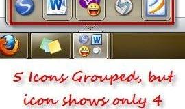 Free Taskbar Organizer to group taskbar icons