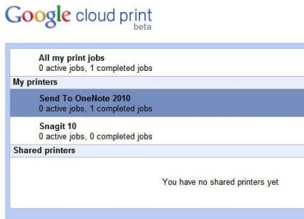 Google Print Management