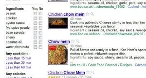 Google Recipes Search