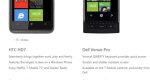 HTC HD 7 vs Dell Venue Pro