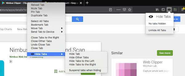 Hide Tabs in Firefox