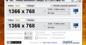change monitor resolution Keyboard Shortcut