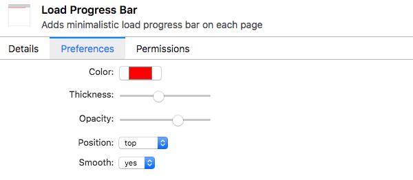 Loading Progress bar settings