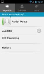 Lync App Chat Status