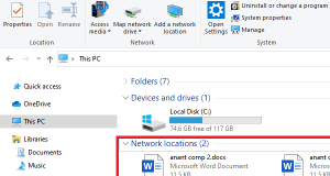remove Network Locations This PC