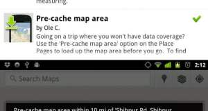 Pre Cache in Google Maps for Android