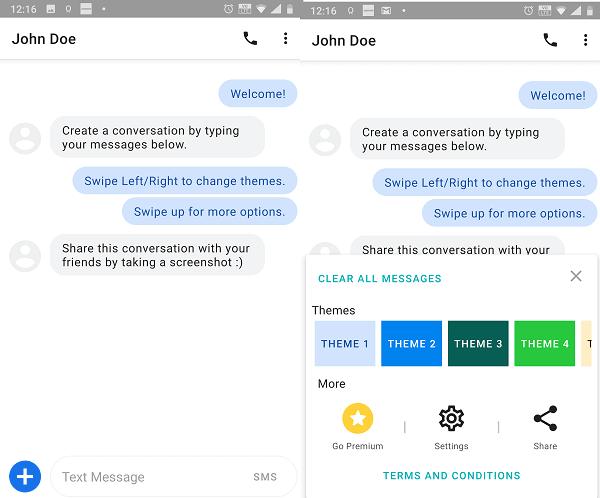 Premium Fake Text Message