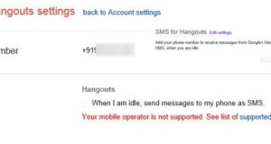 SMS Notifications for Hangouts