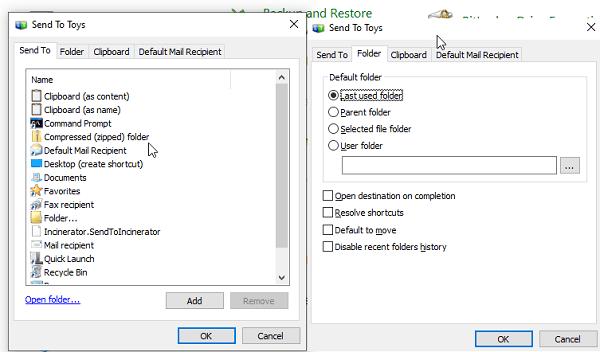 Customize Send To Windows