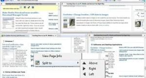 Split Firefox browser