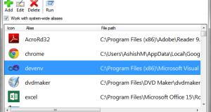 Run Shortcuts Windows Alias