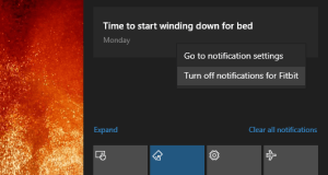 manage control notifications Windows 10