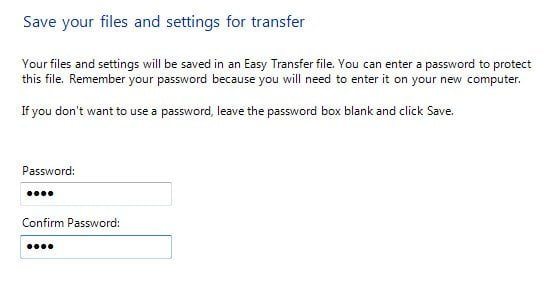 Windows 7 File Transfer Password