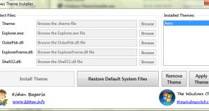 Windows 7 Theme Installer