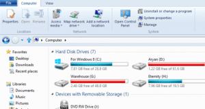 Windows 8 File Explorer My Computer